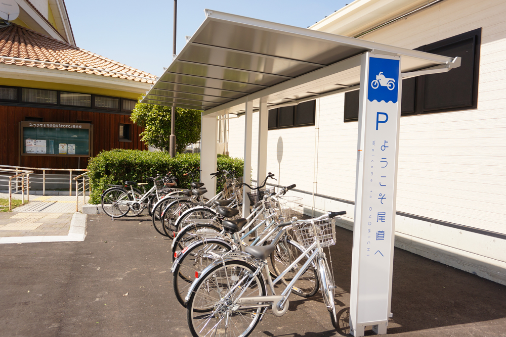 屋根付き自転車専用駐車場